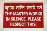 Sign in Prem Baba Ashram Photographic Print