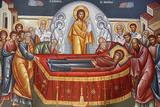 Painting in Capharnaam (Capernaum) Greek Orthodox Church Photographic Print