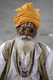 Sadhu in Haridwar Photographic Print
