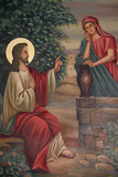 Saint Anthony Coptic Church Painting, Jesus and the Samaritan Woman Photographic Print
