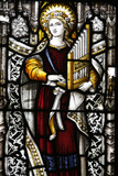 Stained Glass in St George Anglican Cathedral Photographic Print