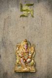 Ganesh and Swastika Photographic Print