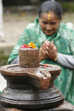 Shiva Lingam Altar Photographic Print