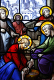 Saint Aignan Church, Jesus Washing the Feet of His Disciples Photographic Print