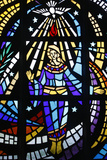Holy Ghost and Virgin Mary Depicted on Stained Glass Photographic Print