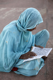 Women Reading at Jamma Masjid (Delhi Great Mosque) Photographic Print