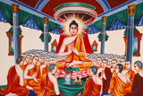 Life of the Buddha, Instructing the Assembly Arahants Photographic Print