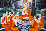 Life of the Buddha, Questionning, Buddha Trained His Disciples in the Art of Questioning Photographic Print