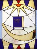 Stained Glass, Rosh Hachana, Jewish New Year Photographic Print