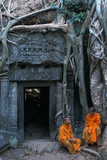 Buddhist Monks at Ta Prohm Photographic Print