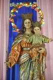 Virgin and Child Statue Photographic Print