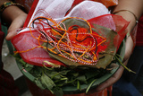 Mala Prayer Beads and Offerings Photographic Print