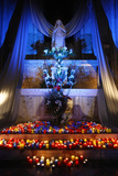 Light Festival and Feast of the Immaculate Conception in Lyon St John's Cathedral Photographic Print
