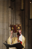 Celebration in Notre Dame Cathedral, Paris Photographic Print