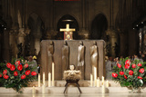 Christmas Celebration in Notre Dame Cathedral Photographic Print