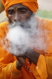 Sadhu Smoking Cannabis Photographic Print