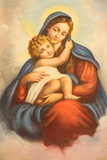 Virgin and Child Picture in Maronite Church Photographic Print