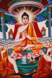 Life of the Buddha, Instructing the Assembly Arahants Photographic Print