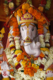 Garlanded Ganesh Sculpture Photographic Print