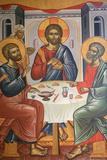 Greek Orthodox Trinity Icon Fotografisk tryk