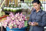 Market, Lotus Flowers Photographic Print