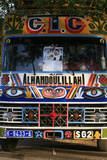Senegal Bus with Religious Signs Photographic Print
