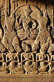 Angkor Wat, Carved Detail on Wall Photographic Print