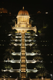 Haifa Baha'i Temple at Night Photographic Print