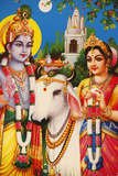 Picture of Hindu Gods Rada and Krishna Lámina fotográfica