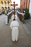 Procession Outside Lomate Cathedral Photographic Print