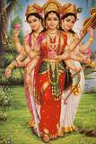 Picture of Hindu Goddesses Parvati, Lakshmi and Saraswati Photographic Print