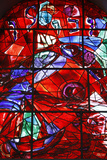 Stained Glass Window in the Synagogue of the Hadassah Hospital Photographic Print