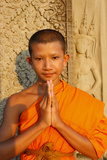 Buddhist Monk at Angkor Wat Photographic Print