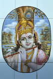 Hindu God Krishna with His Flute Photographic Print
