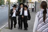 Orthodox Jews in Bnei Brak Photographic Print