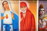 Religious Posters for Sale in Calcutta Photographic Print