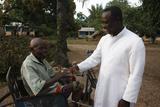 Catholic Priest in Akata Djokpe Lepers' Village Photographic Print