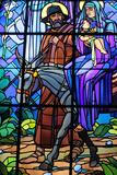 Saint-Joseph of Chedde Church, Flight to Egypt Stained Glass by Raphael Lardeur Photographic Print