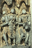 Hindu Sculptures in Belur Photographic Print