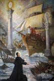 Painting Depicting the Life of Don Bosco in Santuario di Maria Ausiliatrice Photographic Print