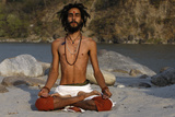 Yoga in Rishikesh Photographic Print