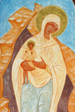 Painting of the Virgin and Child in Ain Kerem Orthodox Monastery Photographic Print