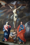 Our Lady of Assumption Church, Crucifixion Painting Photographic Print