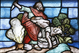 Stained Glass, Isaac's Sacrifice Photographic Print