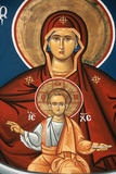 Greek Orthodox Icon Depicting Virgin and Child Photographic Print