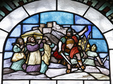 Stained Glass, The Battle of Jericho Photographic Print