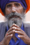 Sikh Praying in Gurdwara Sisganj, Old Delhi Photographic Print
