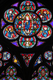Stained Glass in Notre-Dame of Paris Cathedral Photographic Print