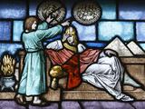 Stained Glass, Joseph Explaining Pharoah's Dream Photographic Print