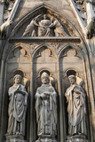 Notre Dame Cathedral, South Facade, Apostle Sculptures Photographic Print